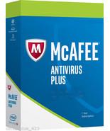 Ship Physical Key Card Only - Intel McAfee Antivirus Plus 2018, 3 PCs - ... - $12.50 CAD