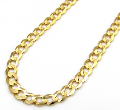 4.5MM SOLID 14K Yellow Gold Cuban Link Curb Chain - 18-24 Inches - £562.29 GBP+