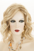Butterscotch And Champagne Blonde  Blonde Medium Lace Front Hand Tied Wavy Wigs - $436.23