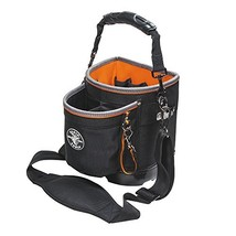 Tool Bag with Shoulder Strap Has 14 Pockets for Tool Storage, Can Fit Long Screw
