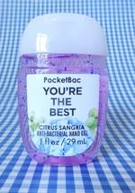 1 BATH & BODY WORKS YOU'RE THE BEST CITRUS SANGRIA POCKETBAC HAND GEL NEW! - $4.99