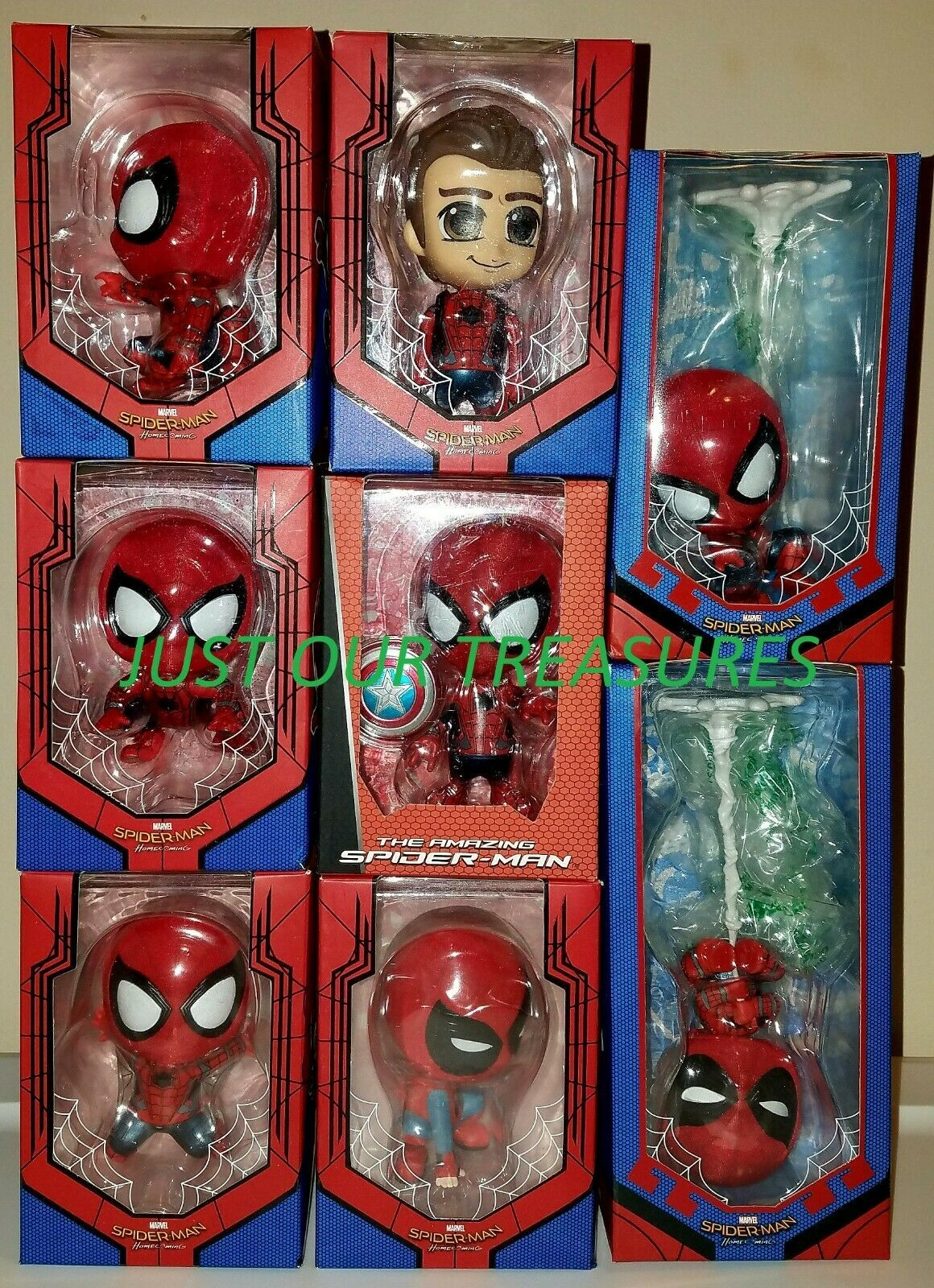Primary image for HOT TOYS MARVEL SPIDERMAN HOMECOMING COSBABYS FIGURE (LOT OF 8) **NIB, CHINA KO*