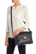 NWT! Cole Haan CHR11716 Lock Group Leather Satchel/Shoulder Bag in Black - $159.00