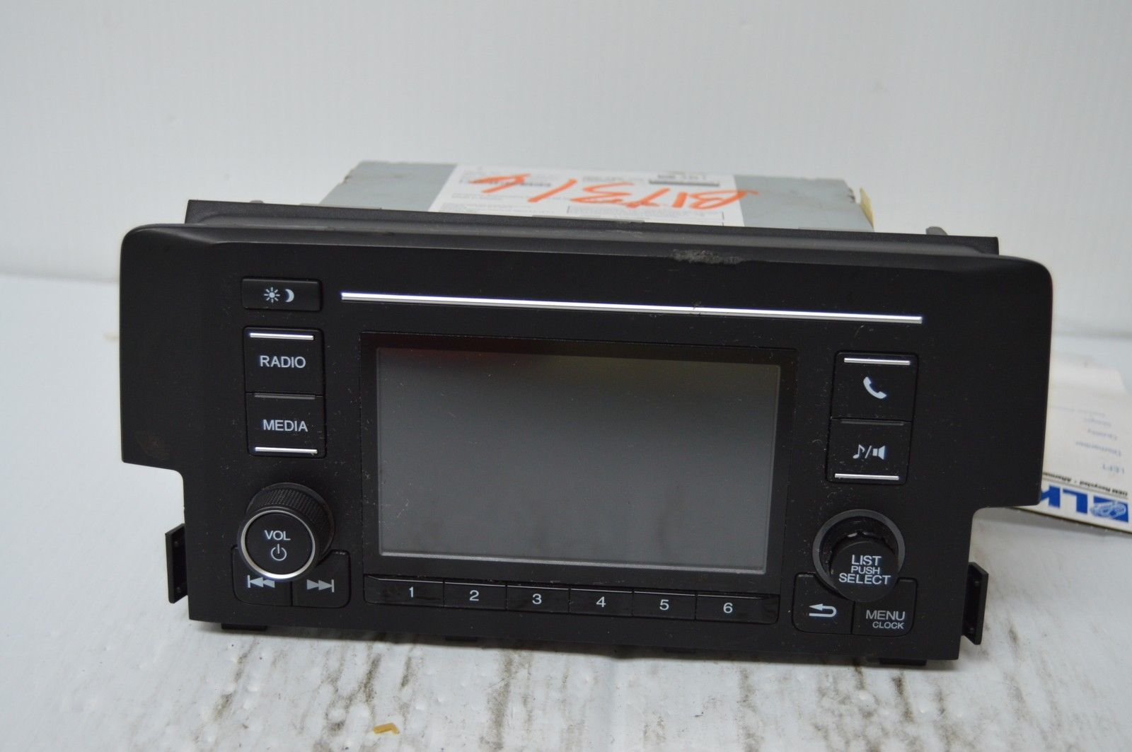 2016 honda civic radio bluetooth cd player 39100 tba a11 parts only v53 002 other. Black Bedroom Furniture Sets. Home Design Ideas
