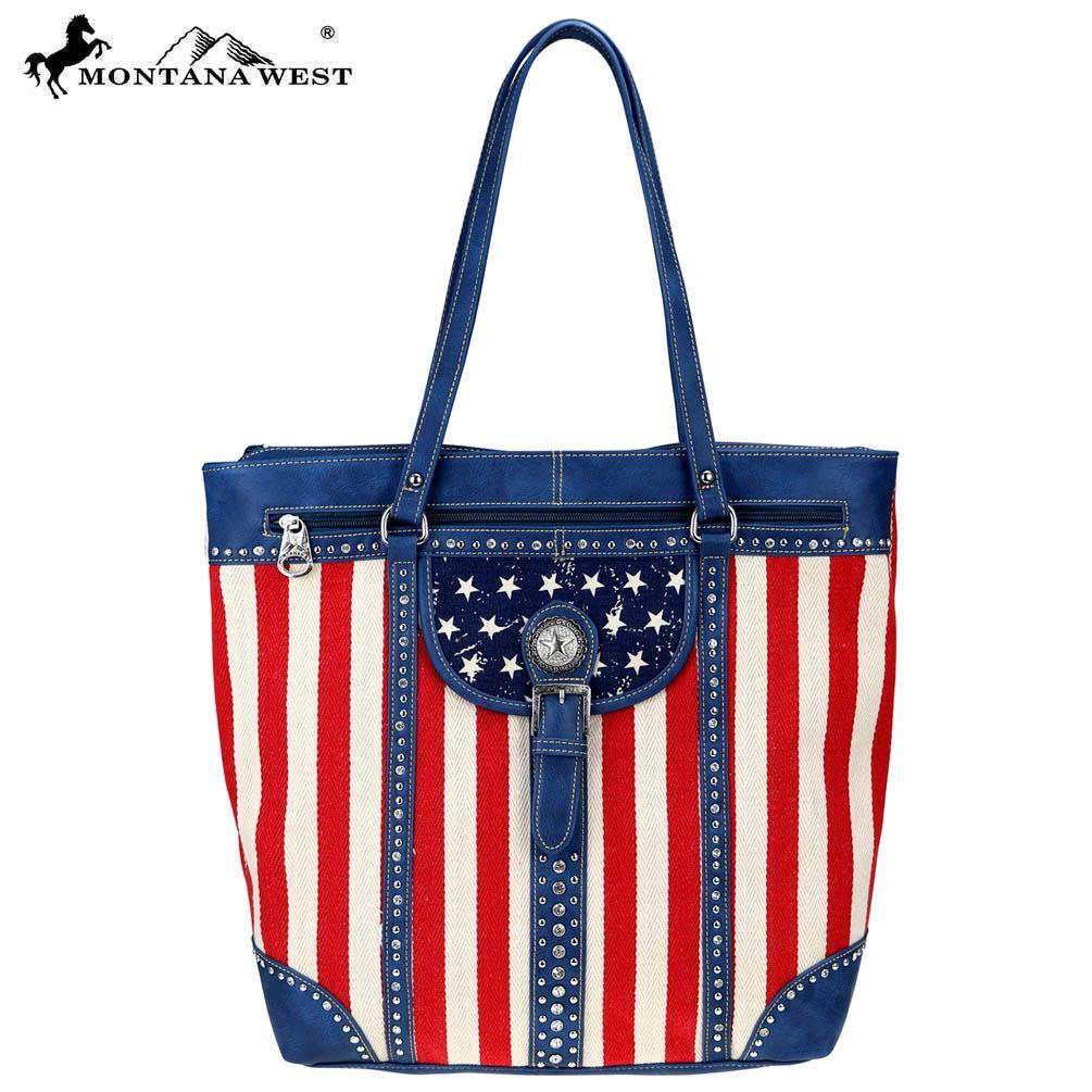Mw730 8485 1005 tq am flag tote blue