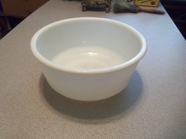 "VTG 9"" 13 Cup White Milk Glass Mixing Bowl For Stand Mixers w/ 4.75"" Bot... - $24.24"