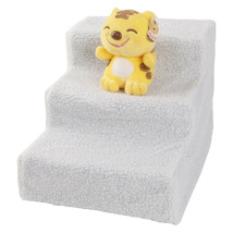Portable Soft Pet Stairs Ramp Cat Step Dogs Bed Ladder Dog Stair Sofa White - $24.57