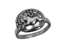 TAURUS Sterling Silver 925 Ring Zodiac Astrology sign The Bull Jewelry P... - $22.49