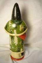Vaillancourt Folk Art Santa & Pinecones Collector's Wkd signed by Judi! image 2