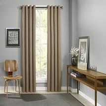 """Eclipse Palisade Blackout Grommet Window Curtain, 52"""" x 84"""", Clay - $25.59"""