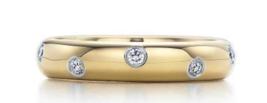 Tiffany & Co Diamond Etoile Ring Platinum &18K Yellow Gold Band Ring Box,Receipt - $1,197.94