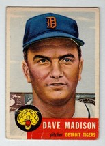 1953 Topps #99 Dave Madison Detroit Tigers VG condition $30 BV - $6.26