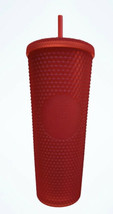 STARBUCKS BRAND NEW LIMITED EDITION HOLIDAY 2020 MATTE RED STUDDED TUMBL... - $50.00