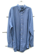 Ralph Lauren 100% Cotton Men's Blue Dress Shirt  Checkered Yarmouth Long... - $19.79