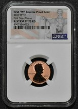 2019W Mint Mark Lincoln Penny Cent NGC PF70 RD Reverse Proof Coin FDOI SKU C62