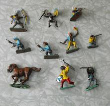 Western Indians Peasant Fighters Play Set Figures Vintage Native Americans - $16.99