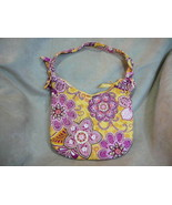 NWOT Vera Bradley Yellow And Pink Shoulder Bag In Cotton - $9.49
