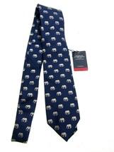 Charles Tyrwhitt Tie, Classic Silk Elephant Motif - Navy & Grey - NEW w/... - $34.60