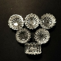 6 American Brilliant Cut Open Salts Zipper and Long Short Notches Straig... - $17.95