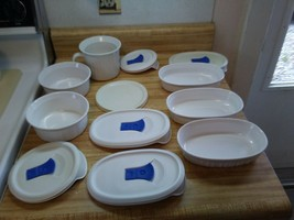 French white Corning ware with lids - $33.20