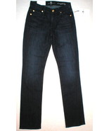 New 7 for All Mankind NWT $190 Straight Leg Mid Rise 25 X 32 Jeans Women... - $219.00