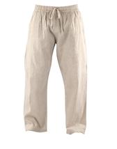 Men Drawstring natural Linen pants spring fall pants heavy linen, Plus, ... - $48.00+