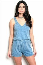 Romper Distressed Blue Honey Punch Size Sm / Med Choice Soft Feel - $10.89