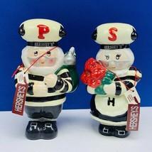 Hersheys Kisses vtg advertising Christmas holiday salt pepper shakers el... - $23.10