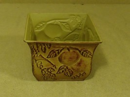 Handcrafted Decorative Planter 6in x 6in x 5in Browns Fruit Metal - $9.89