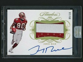 2019-20 Panini Flawless Jerry Rice Auto Jersey Patch Card #9/10 49ers  - $799.99