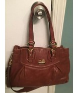 COACH Madison Leather Carryall brown leather shoulder satchel purse - $99.00