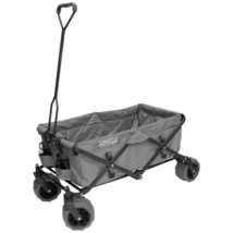 Outdoor Folding Wagon with Side Pockets 7 cu ft 150 Lbs Capacity Functio... - $172.65