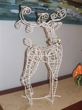 NEW BOX PIER 1 $129 Metal Wire Reindeer  CHRISTMAS 2 tea light centerpie... - $66.08