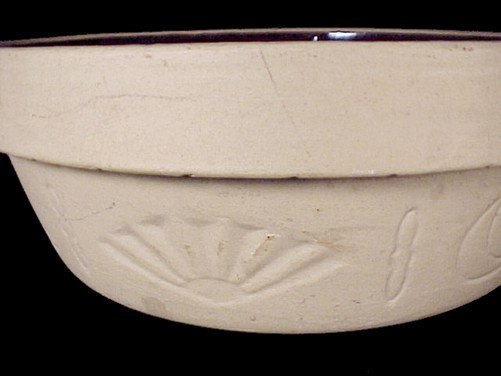 Brown Stoneware Celestial Crock 10 X 3.5 Bowl Vintage Crockery Baker Sun Moon
