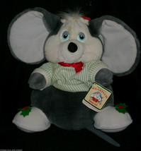 """12 """" Vintage 1987 Caramellina Mouse Applause Natale Peluche Peluche Tag - $39.63"""