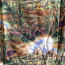 C415 Desert View Michael Miller Fabric Southwest Cactus Landscape Rock Formation - $49.49