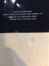 Ralph Lauren Cassie Talli 2pc King Pillowcases Tonal Cream Nip $120 Beautiful - $79.19