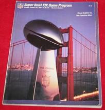 SUPER BOWL XIX PROGRAM Miami Dolphins San Francisco 49ers JOE MONTANA Da... - $12.82