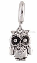 Silver Night Owl Charm For Endless Story Bracelet Interchangeable Jewelry - $12.95