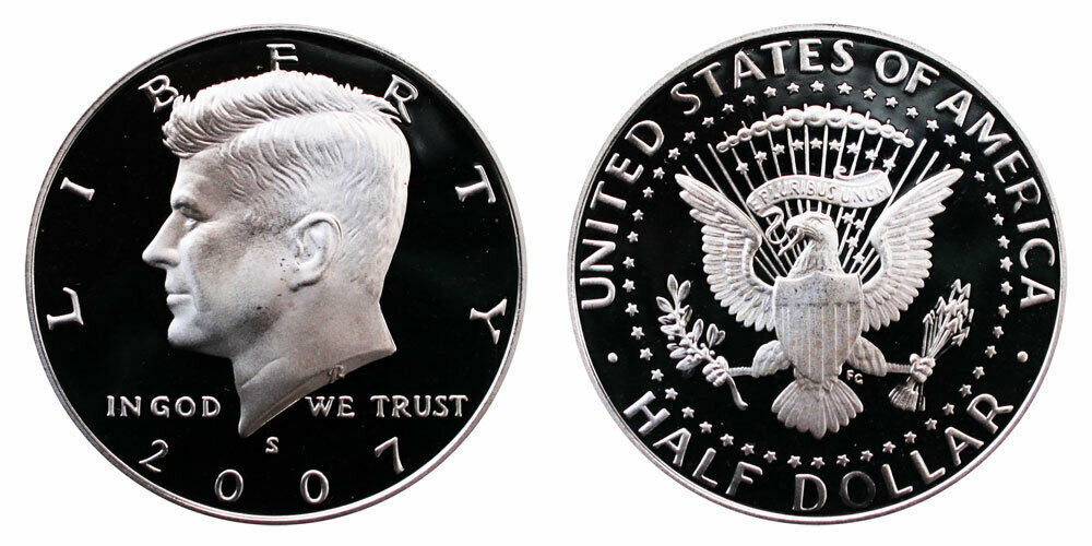 2007 S Proof Kennedy Half Dollar CP2046
