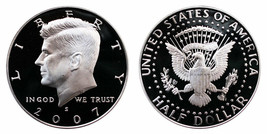 2007 S Proof Kennedy Half Dollar CP2046 - $5.75
