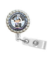 Blue Little Girl X-Ray Tech Retractable Reel ID Name Tag Badge Holder 1.13 - $10.00