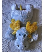Ty Baby Blue & Yellow Stuffed Floppy CutsieMoosie Moose Tysilk Toy w Rattle 2001 - $24.23