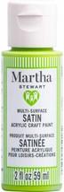Martha Stewart Crafts Multi-Surface Satin Acrylic Paint, 2 oz, GREEN APPLE - $9.89