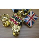 HARRODS Key Chain Queen's Stage Coach Carriage Keyring from LONDON, UK - $24.74