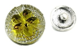 USA SELLER Interchangeable Button Snap Jewelry Yellow Flower 18mm 337-1 - $5.92