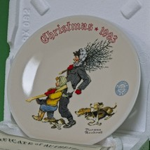 "1993 Knowles Norman Rockwell Christmas Collector Plate, ""The Tree Brigade"" - $4.95"