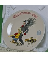 """1993 Knowles Norman Rockwell Christmas Collector Plate, """"The Tree Brigade"""" - $4.95"""