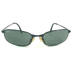 Ray-Ban RB3163 006 Sunglasses Oval Black Metal Frames With Green Lenses - $56.09