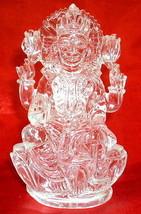 Laxmi Idol In Pure Sphatik / Mahalaxmi In Quartz Crystal - 408 gm - $720.00